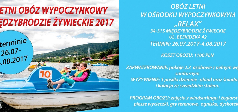 Wakacje 2017 – Międzybrodzie Żywieckie 26.07 – 04.08.2017