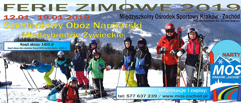 Ferie 2019 – Międzybrodzie Żywieckie 12-19.01.2019