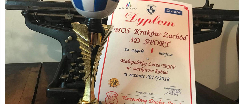Mistrzowski tytuł dla siatkarek MOS Kraków Zachód 3D Sport